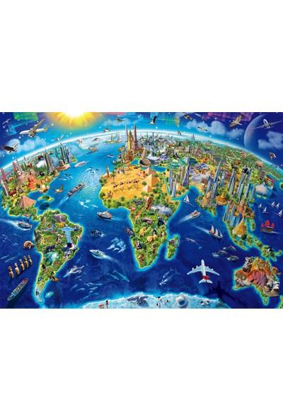 Educa Puzzle World Landmarks Globe 2000 Parça Puzzle