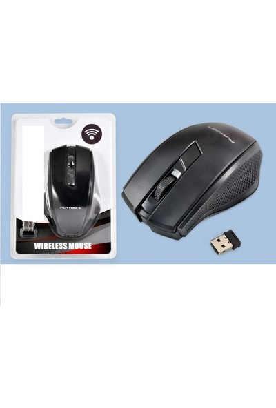 Platoon 1888 Kablosuz Mouse - Wireless Mouse - Siyah Renk