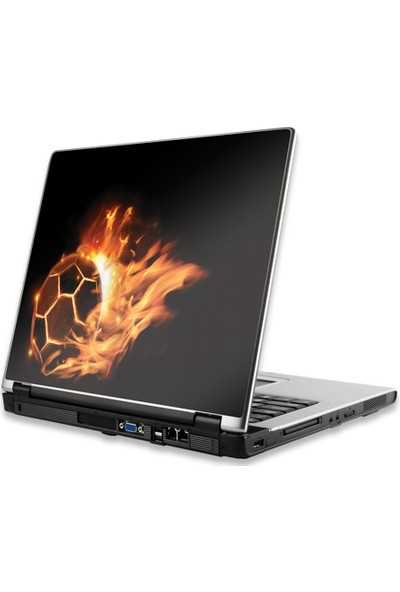 Manhattan Notebook Computer Skin, Fits Most Widescreens Up To 15.4 İn., Fiery Football / Soccer Ball