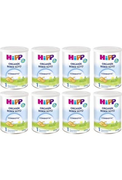 Hipp 1 Organik Combiotic Bebek Sütü 350 gr - 8'li