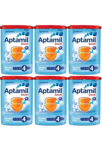 Aptamil 4 Çocuk Devam Sütü 900 gr - 6'lı