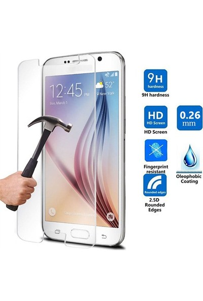 Kea Samsung Galaxy S6 Ekran Koruyucu Cam