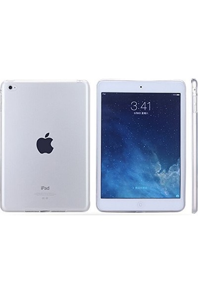 Kea Apple iPad 9.7 2017 A1822 A1823 Şeffaf Silikon Kılıf