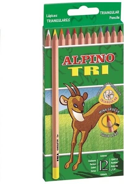 Alpino Tri Üçgen Kuru Boya Kalemi 12 Li Al-128