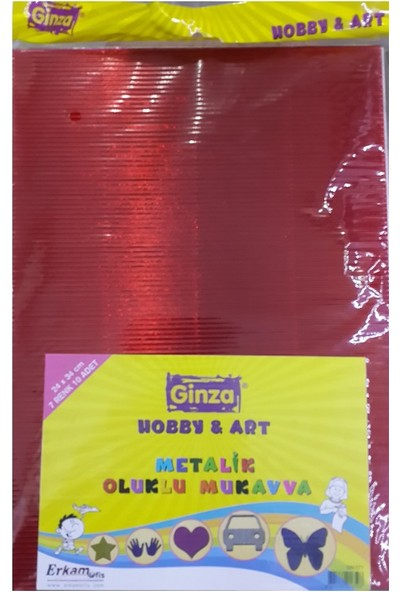 Ginza Metalik Oluklu Mukavva 24X34Cm 10 Lu Paket