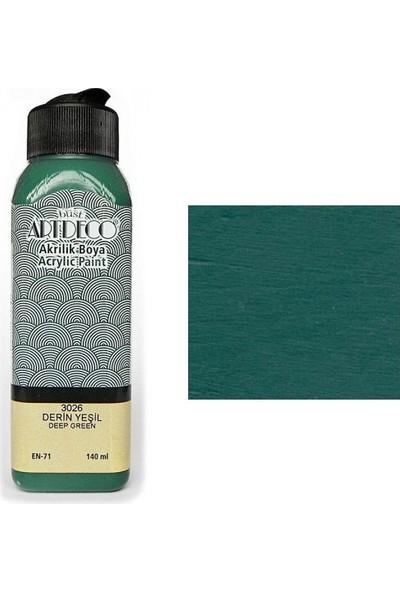 Artdeco Akrilik Boya 140 Ml Derin Yeşil Y-070R3026