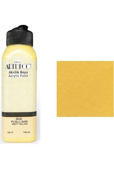 Artdeco Akrilik Boya 140 Ml Puslu Sarı