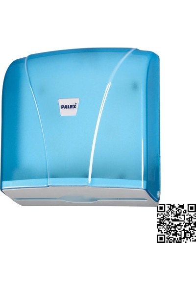 Palex 3464-1 Z Katlı Havlu Dispenseri Şeffaf Mavi