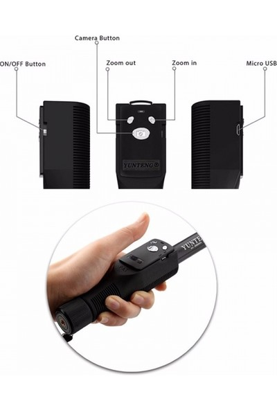 Yunteng Go proo Hero Sjcam Xiaomi Aksiyon Kamera Monopod Telefon Tutucu