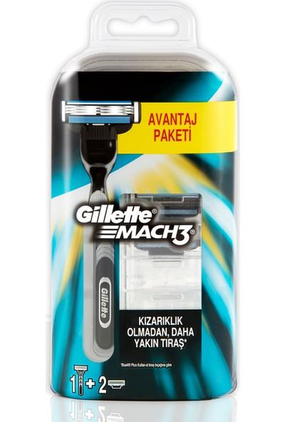Gillette Mach3 Tıraş Makinesi + 2'li Yedek Tıraş Bıçağı