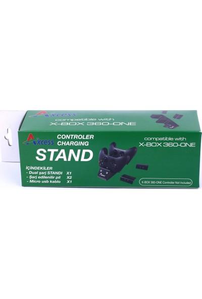 Axcess X-Box One Şarj Standı + 2 Adet Şarjlı Pil