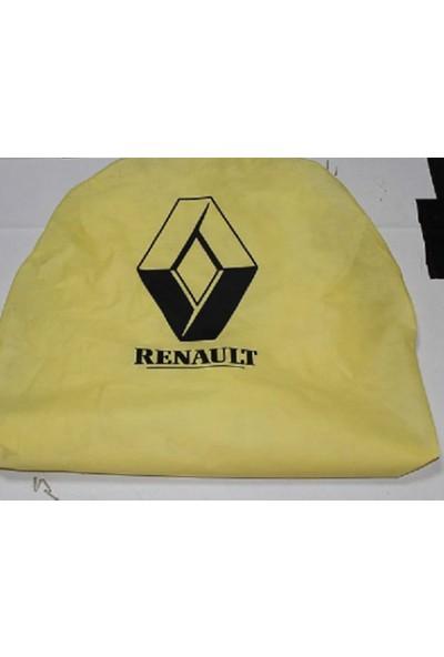 RoyalCar Tela Kumaş Sarı Renault Servis Kılıfı