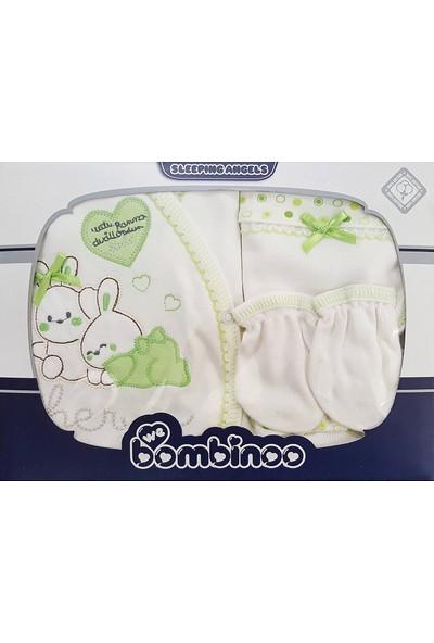 Webombinoo 5 Parça Bebek Hastane Çıkışı Yeni Doğan Zıbın Seti Bk3-8806-K