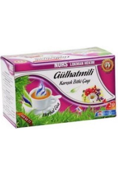 Nurs Lokman Hekim Gülhatmili Bitki Çayı (Bademcik Çayı) 20'li