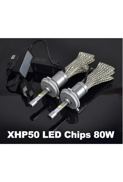 Led Xenon r3 Led- H4 Led 9600 Lümen Far Ampül Şimşek Etkil