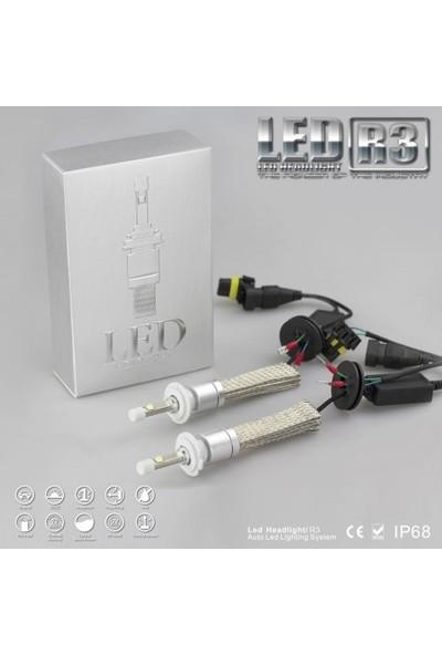 Led Xenon r3 Led- H1 Led 9600 Lümen Far Ampül Şimşek Etkil