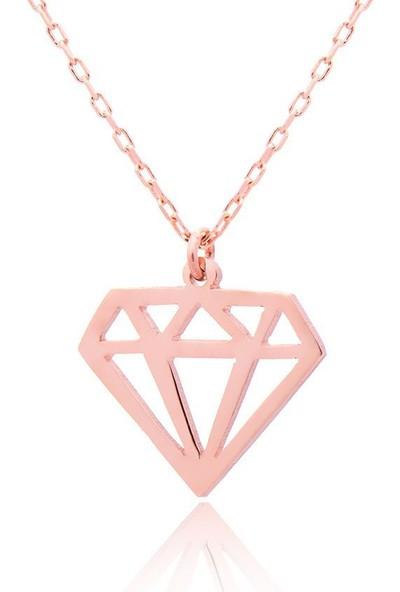 Paşa Home Gümüş Diamond Kolye