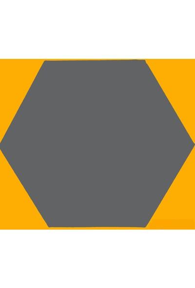 Baytuval 25x25 Altıgen Tuval-Siyah (364 gr/m² - 2 Cm)