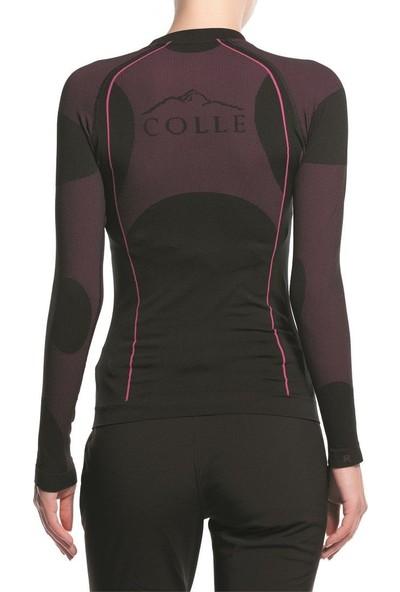 COLLE - Perfomans Uzun Kollu Termal Sweatshirt Siyah/Pembe