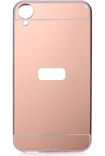 İmpashop HTC Desire 820 Aynalı Kılıf Aynalı Bumper Çerçeve