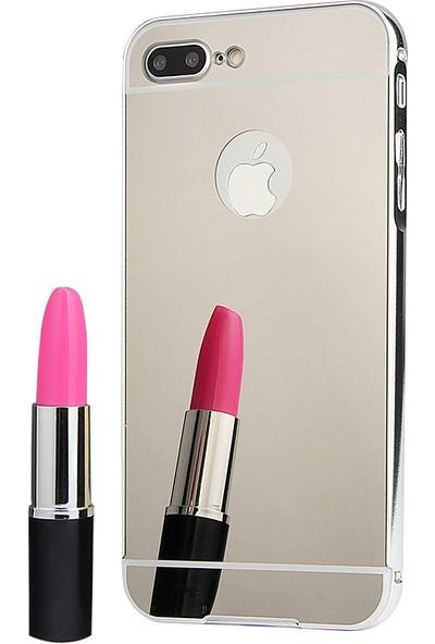 İmpashop Apple iPhone 7 Plus Aynalı Kılıf Aynalı Bumper Çerçeve