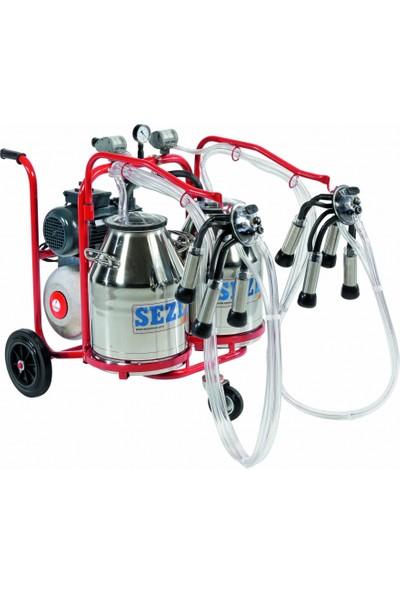 Sezer Pls 2 Süt Sağım Makinesi Paslanmaz Çelik Güğümlü