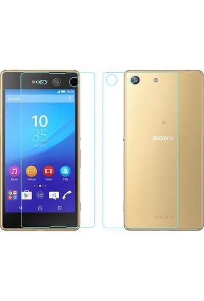 Sonmodashop Sony Xperia M5 Ön + Arka Temperli Cam Ekran Koruyucu