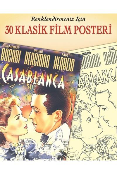 30 Klasik Film Posteri - Renklendirmeniz İçin