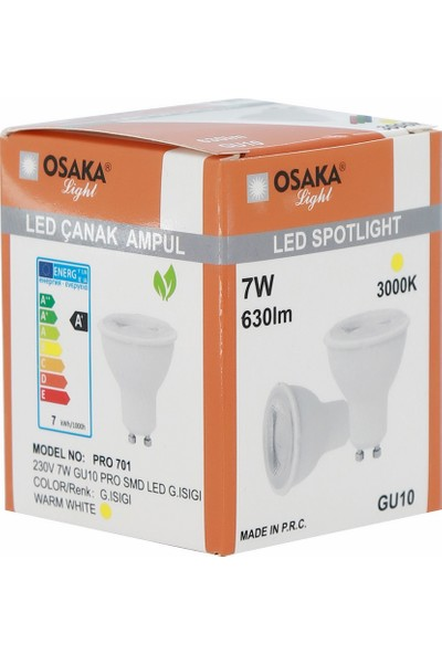 Osaka Light 7Watt-50watt GU-10 PRO SMD Led Ampül Günışığı