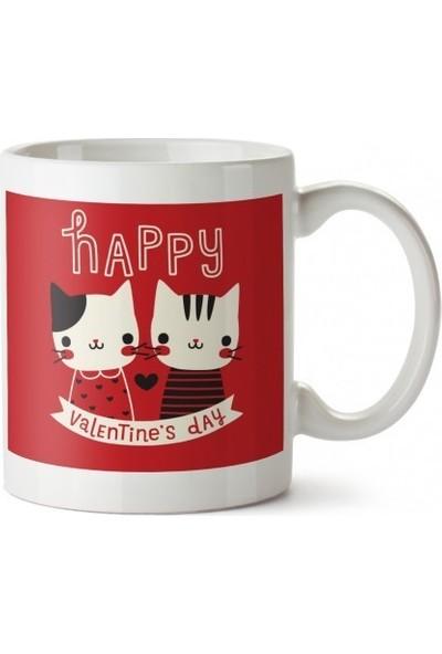 Dalis Happy Valentine's Day Tasarım Kupa