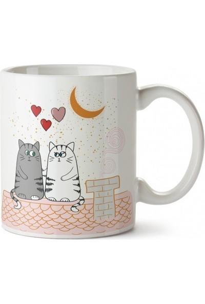Dalis Moon Cats Tasarım Kupa