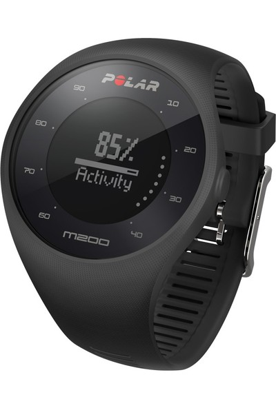 Polar M200 Bilekten Nabız Ölçen Gps'li Koşu Saati Siyah (Türkçe Dil Seçeneği)