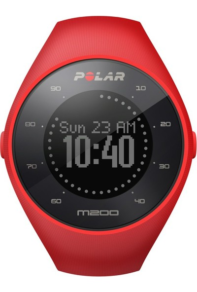 Polar M200 Bilekten Nabız Ölçen Gps'li Koşu Saati Kırmızı (Türkçe Dil Seçeneği) - KONNBZPOL293