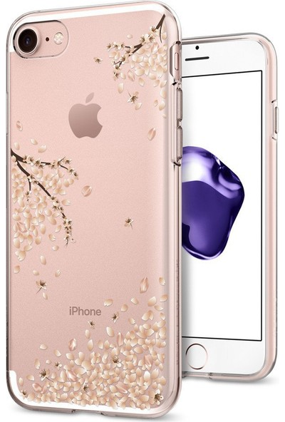 Spigen Apple iPhone 8 - iPhone 7 Kılıf Liquid Crystal Shine Blossom - 042CS21220