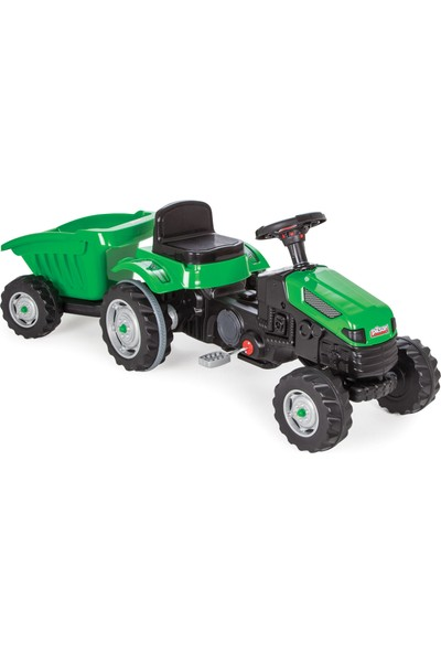 Pilsan Active Römorklu Traktör Pedallı / Yeşil