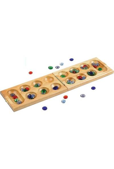 Zeki Çocuklar Mangala Oyunu Ahşap - Özel Taşlar - Türk Zeka Oyunu