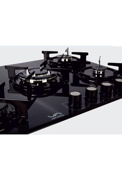 Ventino 3270 Lpg (Tüplü) Siyah Cam 70 Lik Ankastre Siyah Ocak