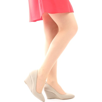 Gön Deri Kadın Ayakkabı 20267 Kum Streç