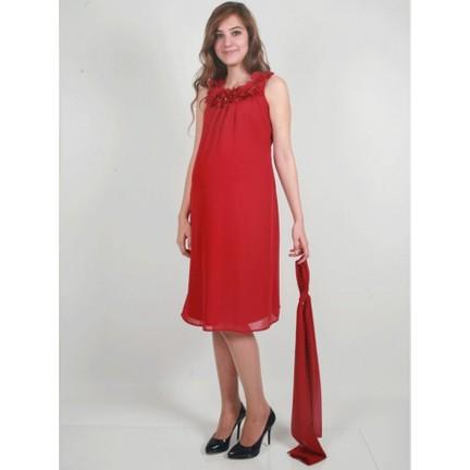 9e6bd0a6b8adc Entarim Hamile Abiye Elbise 9995 - Kırmızı Fiyatı