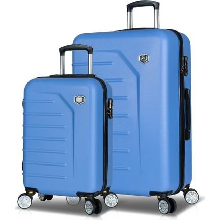 b3d9e1f18bb41 My Valice Premium Abs 2'Li Valiz Seti (Kabin Ve Büyük) Açık Fiyatı