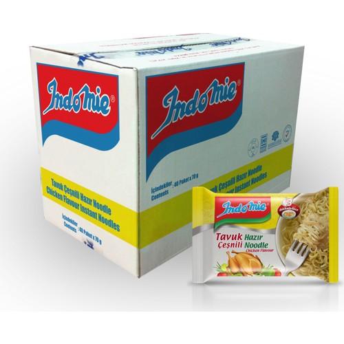 İndomie 40'lı Tavuk Çeşnili Hazır Noodle Koli