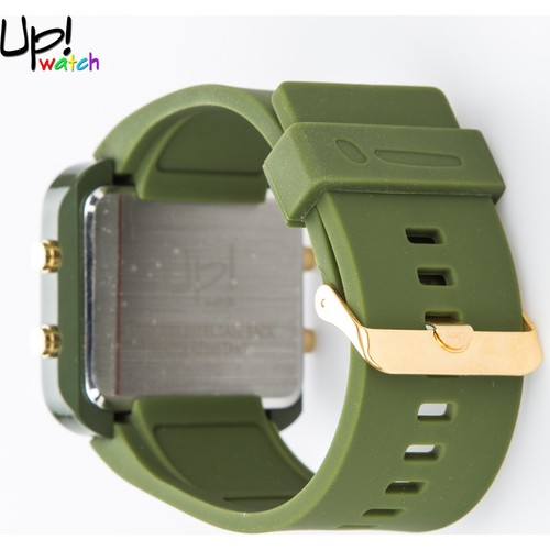 Up Watch Saat Led Gold Edition Dark Green