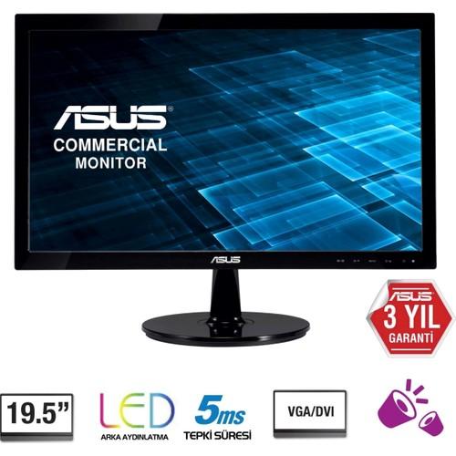 """Asus VS207T-P 19.5"""" 5ms (Analog+DVI-D) Led Monitör"""