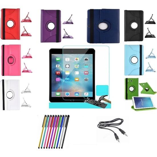Mustek Samsung Galaxy Tab T580 T585 T587 360 Dönerli Tablet Kılıf+Film+Kalem+Aux Kablo
