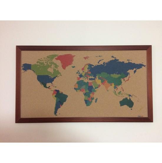 Mapofx Mantar Renkli Dünya Haritası