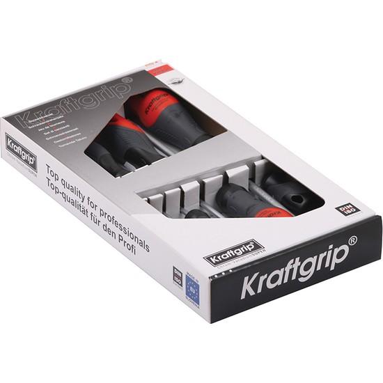 Kraftgrip Düz-Yıldız Tornavida Takımı 7 Parça