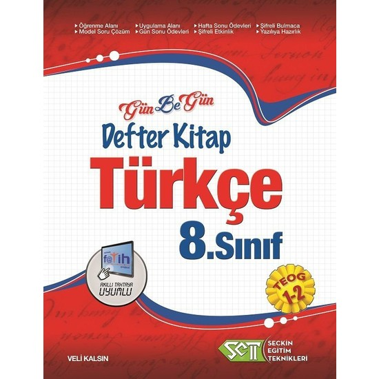Seçkin Eğitim Teknikleri 8. Sınıf Teog Türkçe Gün Be Gün Defter Kitap 1-2