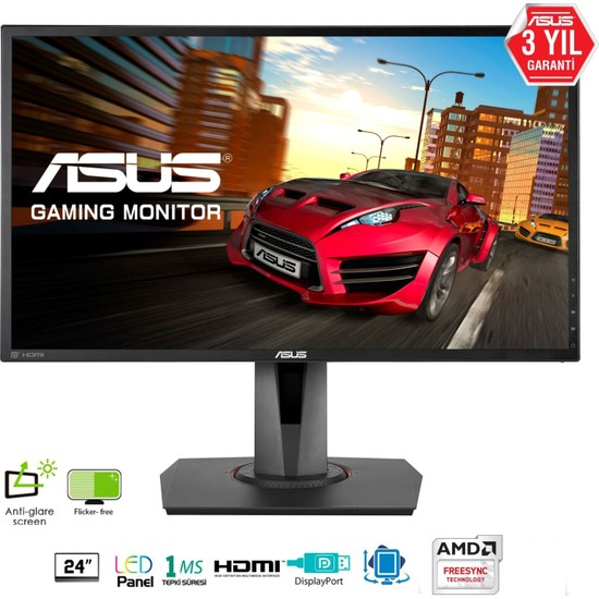 "Asus MG248Q 24"" 1ms (DVI-D+HDMI+Display) Full HD Oyuncu Monitör"