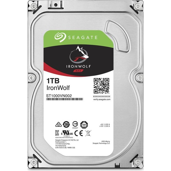 "Seagate IronWolf NAS HDD 1TB 3.5"" 5900RPM 64MB Cache Sata 3 Sabit Disk ST1000VN002"