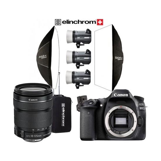 Canon EOS 80D + 18-135 + Elinchrom BRX500 3lü(500W) + Masa